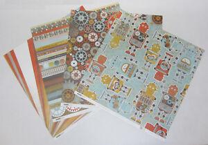 8-Kaisercraft-Double-Sided-K-Bots-Scrapbooking-Paper-12-034-x12-034-Card-Making-amp-Craft