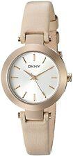 DKNY Women's NY2457 'Stanhope' Beige Leather Watch