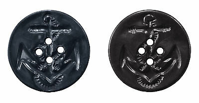 25 NEW 3//4 INCH Dark  NAVY BLUE  DULL FINISH BUTTONS # 261CD29-36