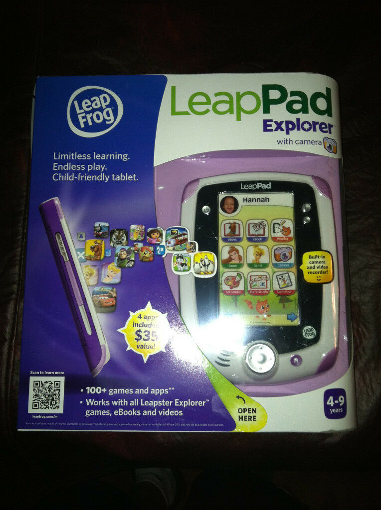 PINK LeapFrog LeapPad Tablet & & & Camera  w   35 ofFree Apps b25f56