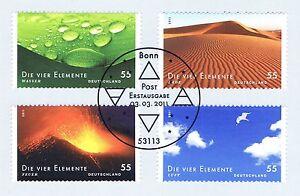 Rfa 2011: Quatre éléments Nº 2852-2855 Avec Bonner Ersttags Cachet Spécial! 1 A! 1707-stempel! 1a! 1707afficher Le Titre D'origine