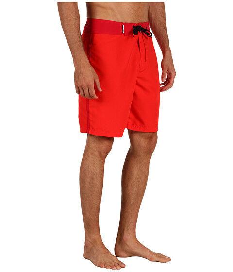 NEW HURLEY Chromatone BOARDSHORTS SHORTS MENS 28 Swimsuit Red