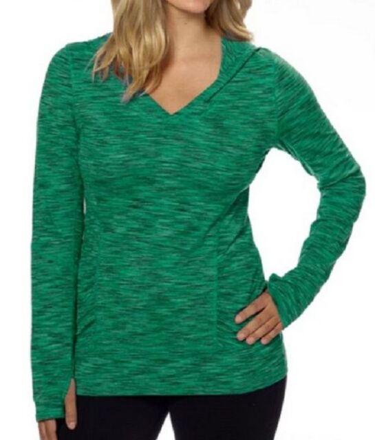 Kirkland Signature Ladies Long Sleeve Crewneck Sweater Teal Green