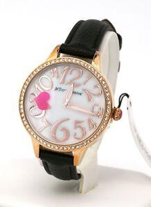 Betsey-Johnson-Women-039-s-Heart-Motif-Rose-Gold-Tone-Watch-BJ00658-02BX-New
