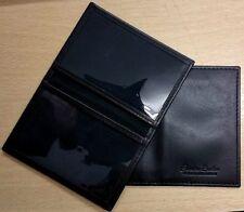 Cashmeer Soft Black Carta di Credito Viaggio Pass OSTRICA ID Holder in vera pelle