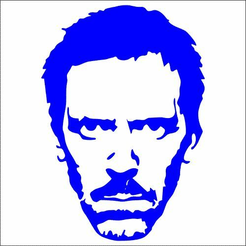 Hugh Laurie Vinyl Decal // Sticker 2 TWO Greg House MD Pack