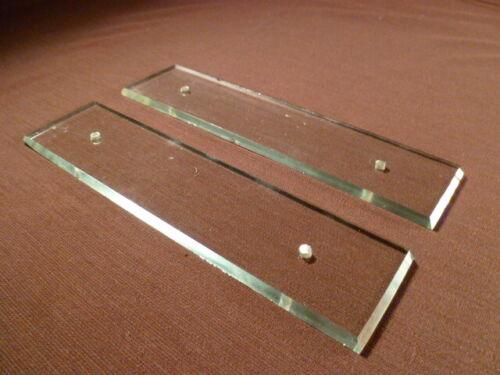 Paire de plaques de propreté art deco année 30 en verre biseauté