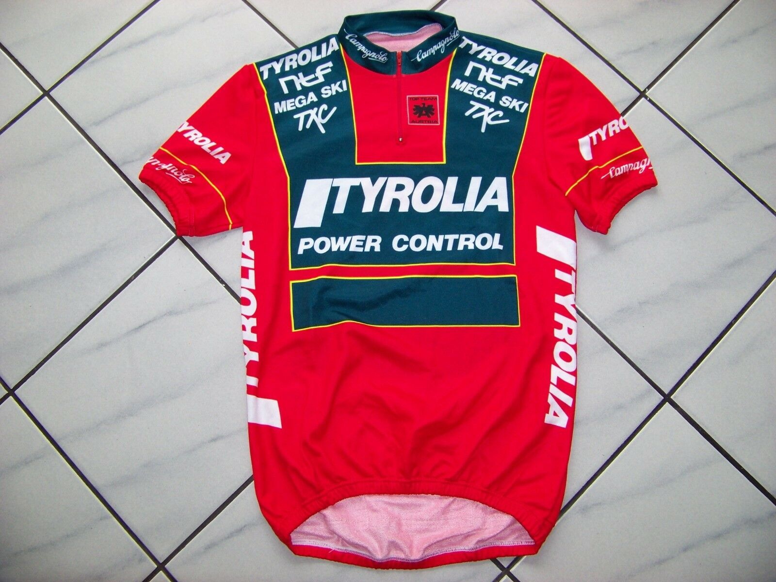 Vintage 1980er Campagnolo Radtrikot Cycling Jersey Denti Tyrolia Mint Gr. 4
