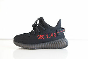 5f3372aebe2 Adidas X Kanye West Yeezy Boost 350 V2 Bred Black Red Infant BB6372 ...