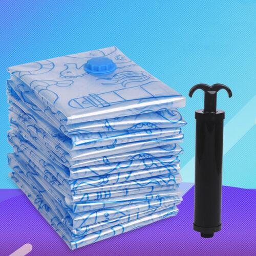 5Size Space Saver Saving Storage Bags Vacuum Seal Compressed Travel Organizer
