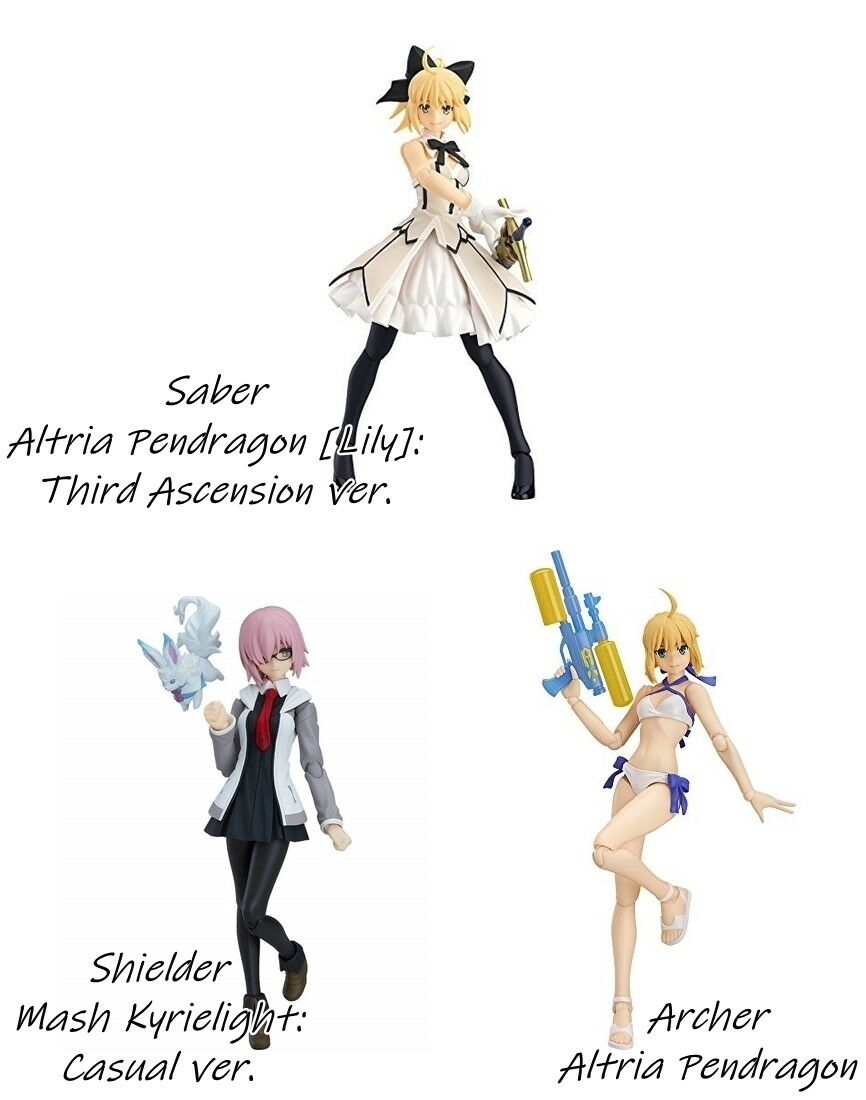 Figma Fate/Grand Order Limited Edition Acción Max facory Sable cigarros Lily Mash