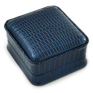 Luxury-Square-Dark-Blue-Snake-Leatherette-Brooch-Pendant-Earrings-Jewellery-Bo
