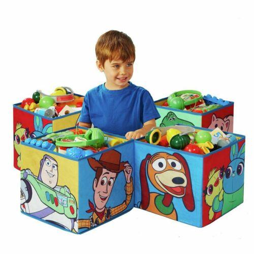 Toy Story Para Niños Juguete de almacenamiento de 4 cajas de Cubo Plegable Buzz Woody Rex Slinky