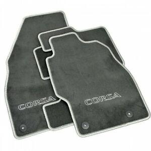 Genuine-Vauxhall-Corsa-D-amp-E-Floor-Mats-Velour-Carpet-Anthracite-Silver