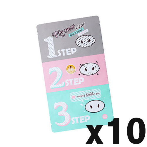 [Holika Holika] Pig-nose Clear Black Head 3-Step Kit  x10