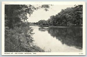 Bristol-Indiana-Calm-Waters-of-the-St-Joe-River-From-Along-Route-120-1945-B-amp-W