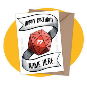 PERSONALISED BIRTHDAY CARD - Dungeons & Dragons - personalized table dnd gamer