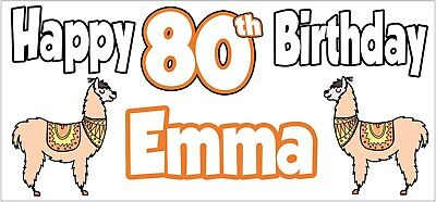 Personalised Cocktail 85th Birthday Banner x 2 Party Decorations Adult ANY NAME
