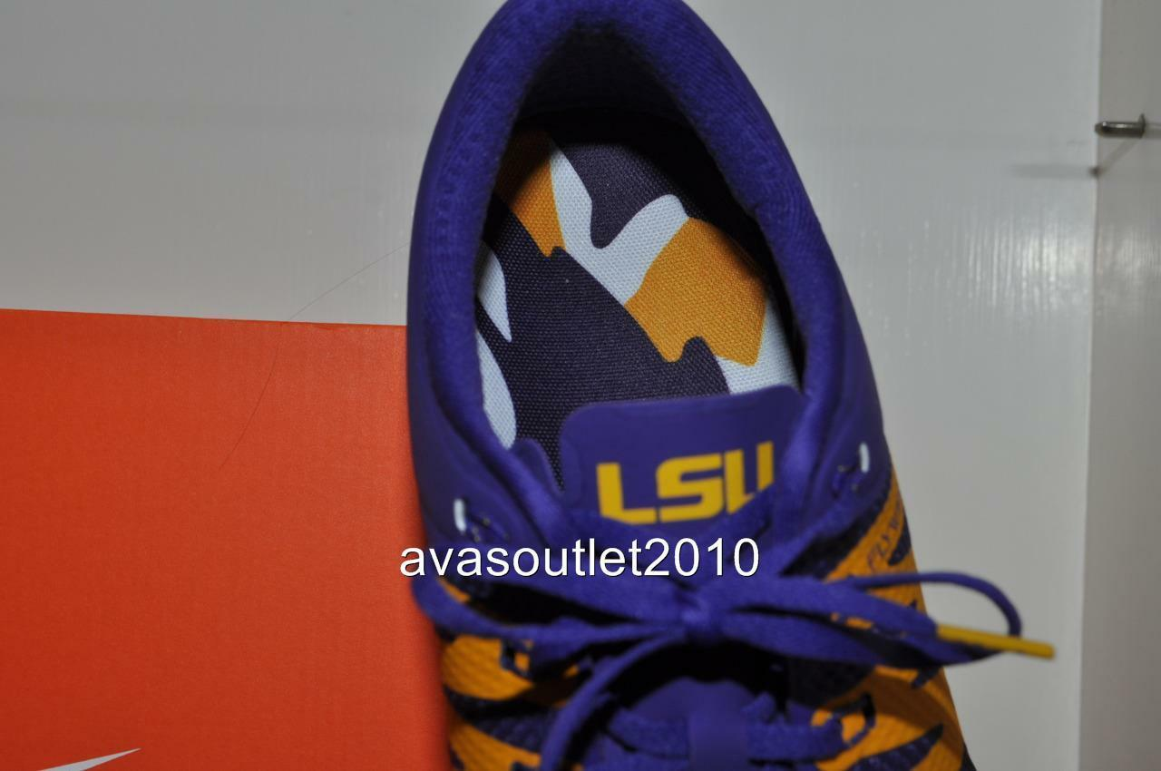 f537540df16cf Nike Trainer 5.0 V6 Amp LSU Tigers Shoes 723939-500 CRT Purple gld white 10  for sale online