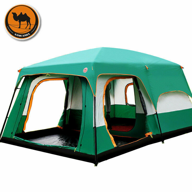 Outdoor Tent 8-12 People Camping Camp  Tents Two Bedroom Big Space High Quality  up to 65% off