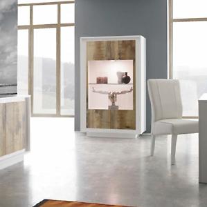 Vetrina ingresso mobile parete soggiorno sky moderno salotto frontale pero ebay - Mobile vetrina moderno ...