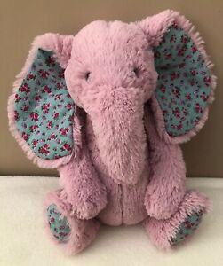 Jellycat-Medium-Bashful-Blossom-Elephant-Baby-Pink-Soft-Toy-Comforter-Soother