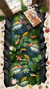 Fishs 53 Color 3D Piso impresión de parojo de papel pintado mural 5D AJ Wallpaper Reino Unido Limón