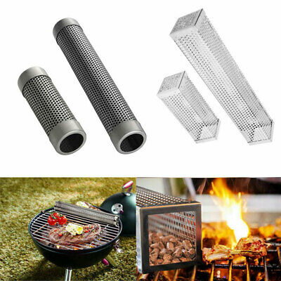 Pellet Smoker Tube Stainless Steel BBQ Pipe Outdoor Mesh Grill Smoke Generator