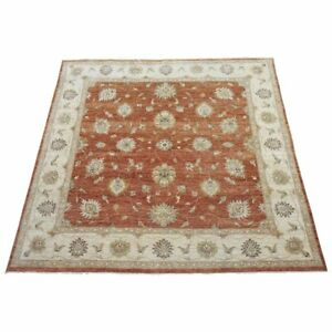 10X10-Square-Pak-Area-Rug-Rust-Hand-Knotted-Wool-Oriental-Carpet-10-x-10-2