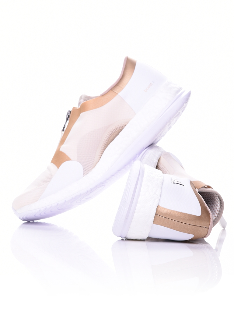 NEW Adidas Damens's PureBOOST X TR Zip WEISS/Gold BB3290