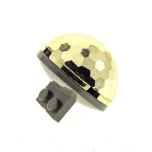 1 X Lego Système Dôme Chrome Or Rond 4x4 fassetten à Moitié Balle Cylindre hemisp