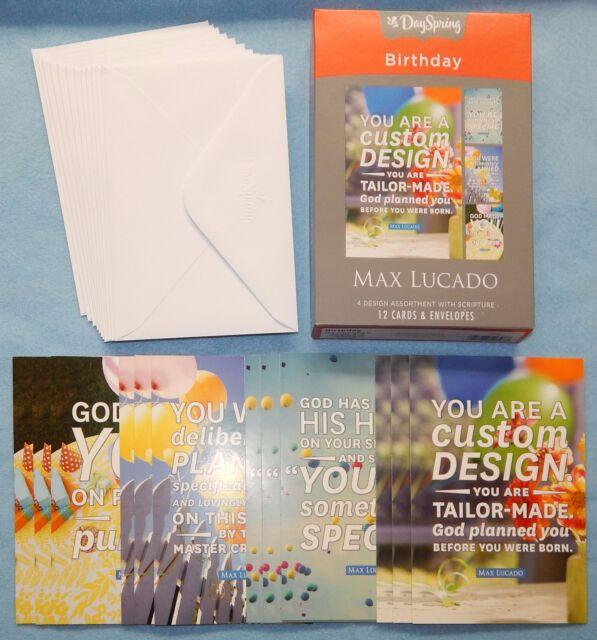 Box Of 12 Max Lucado Birthday Cards By DaySpring 53682