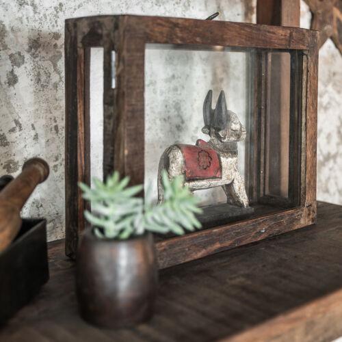 Deko-Kasten Schaukasten Bild Vitrine Vintage aus Glas /& Holz