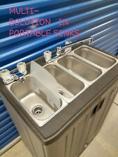 Portable Sink Mobile Concession Three Compartment Hot Water Withhand Wash Sink