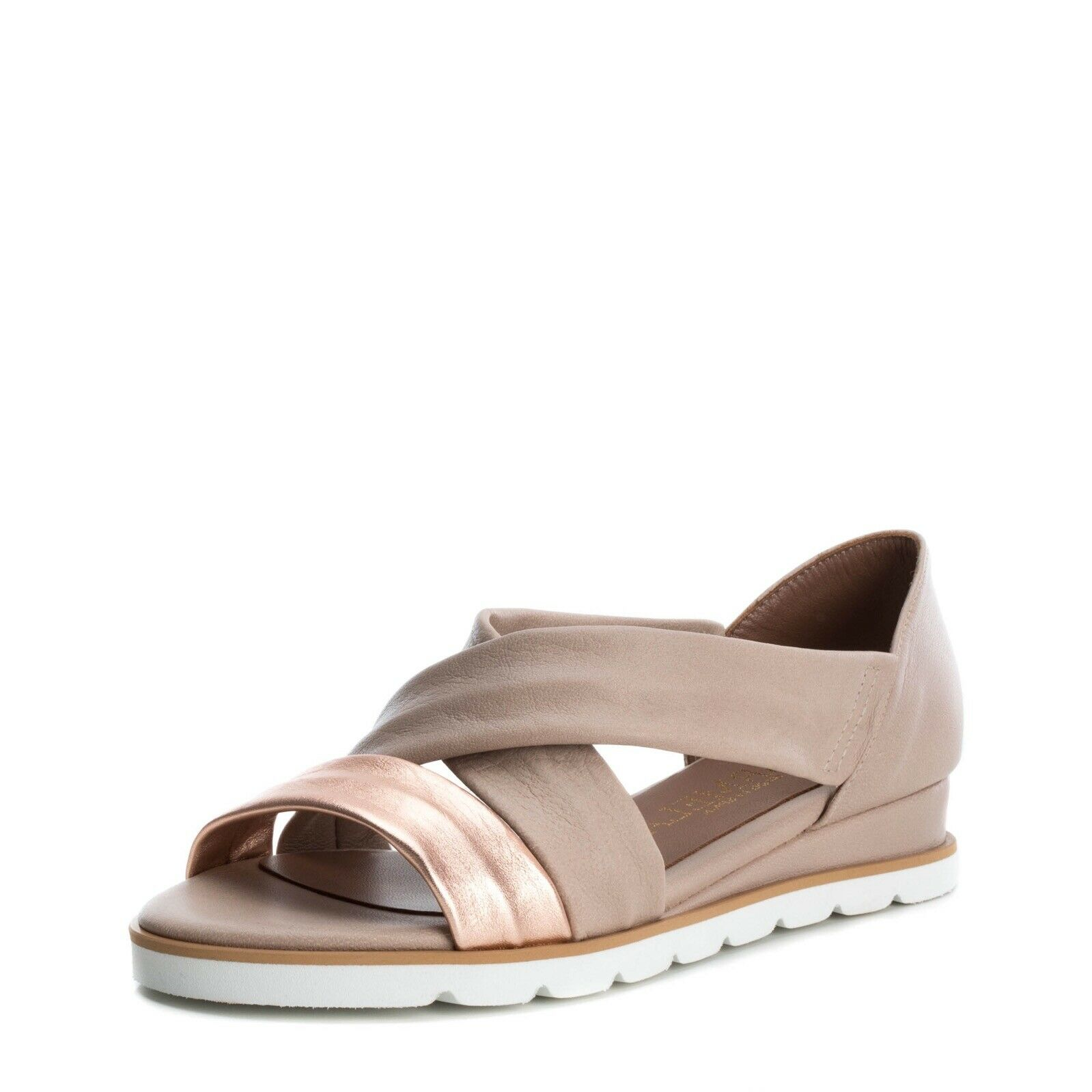 CARMELA by XTI chaussures 66751 beige talons sandale wedge sandal