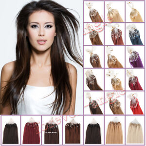 100-Extensions-de-CHEVEUX-A-FROID-EASY-LOOP-Micro-anneaux-Humains-NATURELS-REMY