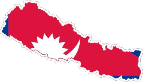 Sticker car moto map flag vinyl outside wall decal macbbook nepal