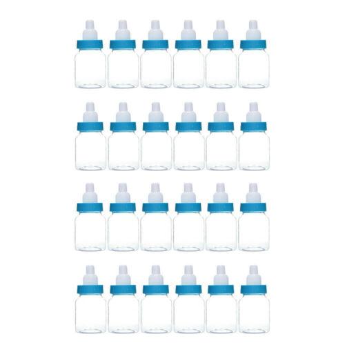 24 un Rosa Azul Mini Botellas Niña//Niño Bebé Ducha Decoración Fiesta Mesa Favores