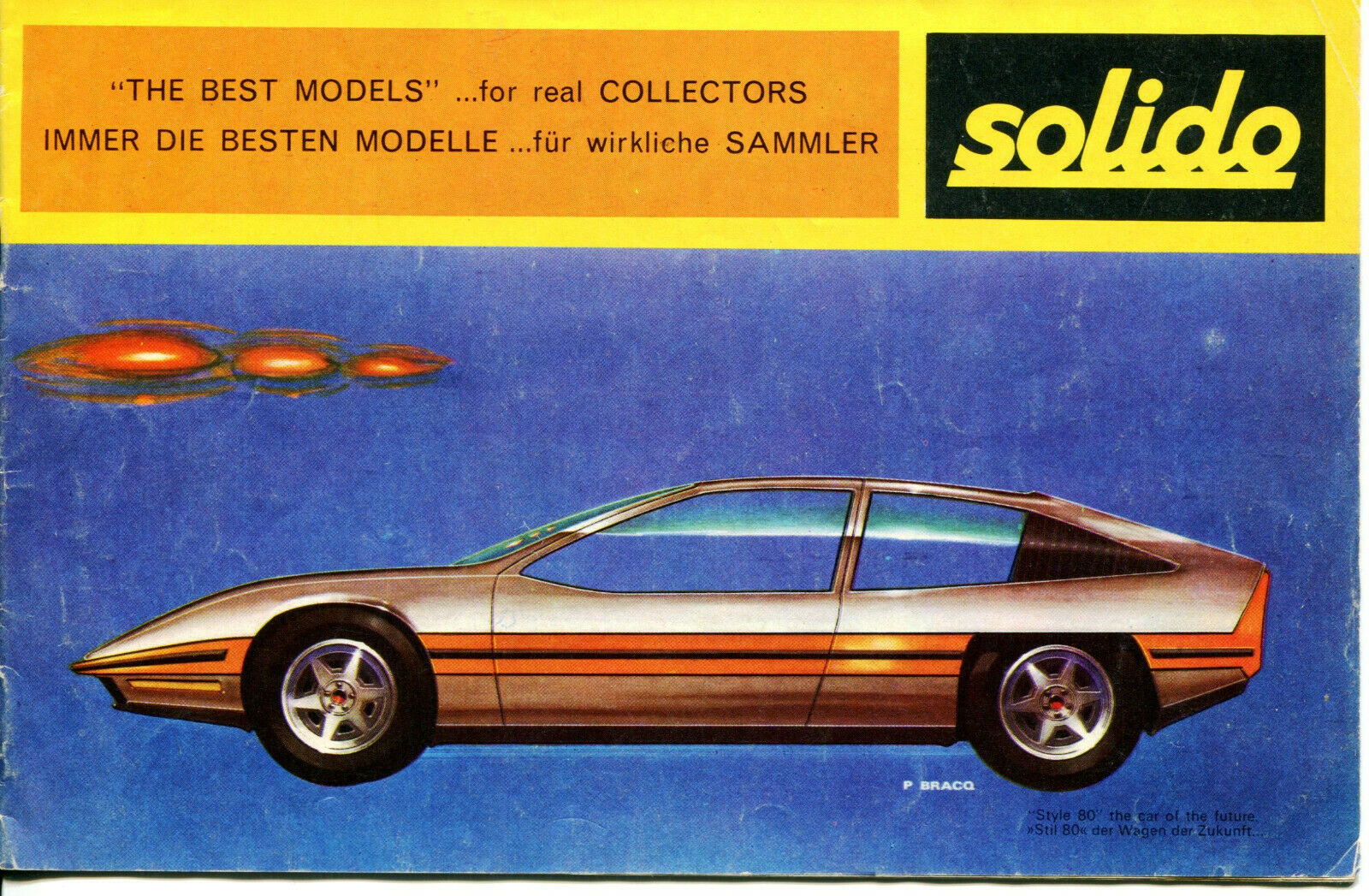 SOLIDO 1970 Catalog 1/43 Scale Models (In French, English, German) ULTRA-RARE!