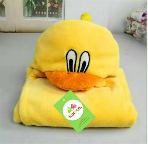 Shawl Bathrobe Home Flannel Blanket Cloak Kids/' bath towel baby Cartoons