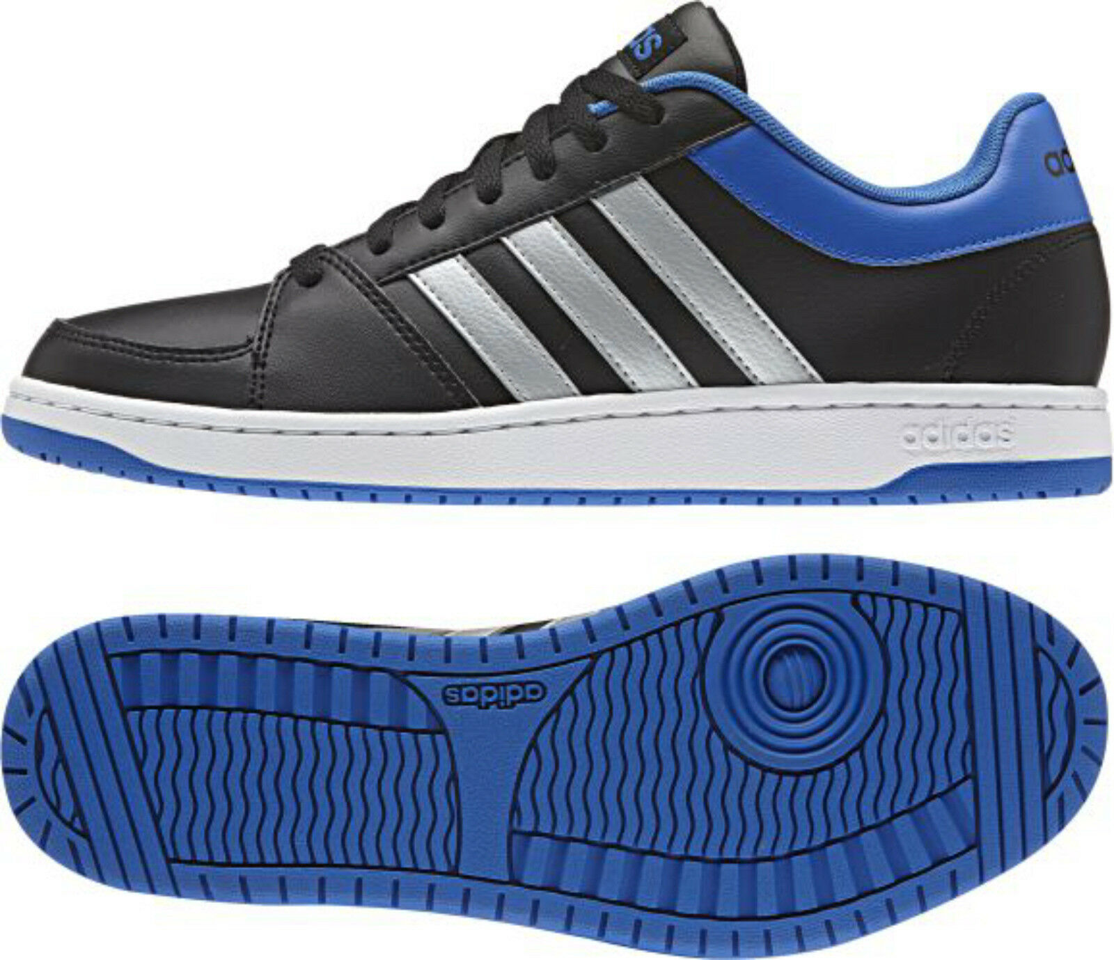ADIDAS HOOPS VS black/silver/blue  F99533  NEO Sneaker Sportschuhe  =SONDERPREIS