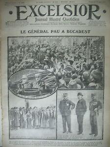 WW1-N-1578-BUCAREST-GENERAL-PAU-RECUL-DES-AUTRICHIENS-JOURNAL-EXCELSIOR-1915