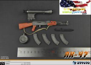 1-6-AK-47-Sturmgewehr-Soldat-Waffe-Dragon-sowjetischen-fuer-Hot-Toys-Phicen-USA