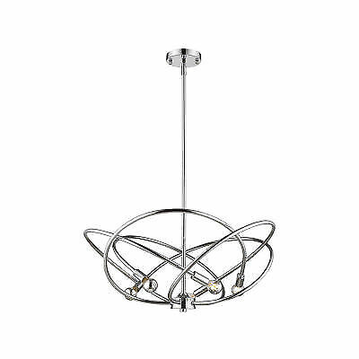 Golden Lighting Cosmic 5 Light Chandelier Chrome