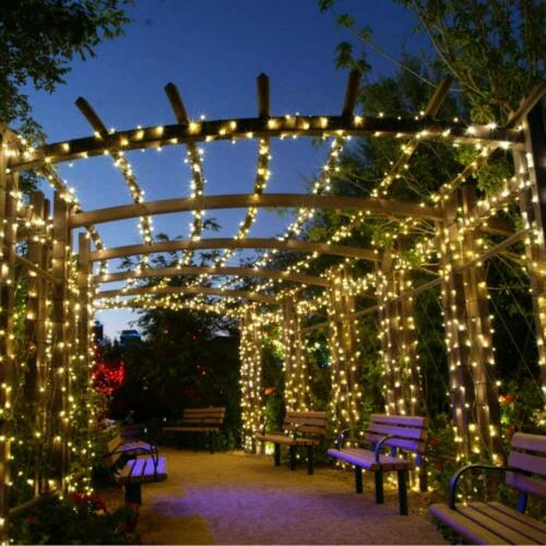 Solar Fairy String Lights Outdoor Waterproof Christmas Patio Home Wedding Party