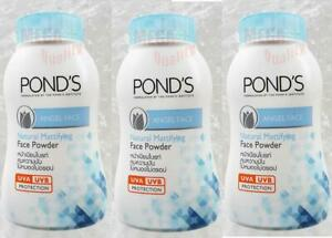 3x50-Grams-PONDS-COOL-BLUE-MAGIC-POWDER-OIL-BLEMISH-CONTROL-UV-PROTECTION