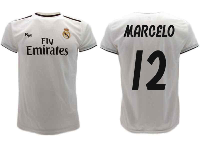 fa8cb20ae12 Camiseta Real Madrid Marcelo 2019 Oficial Uniforme 2018 Vieira12 Home white