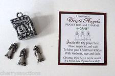 a TRIPLE CHRISTMAS ANGELS angel BOX CHARM Prayer box triplet blessing love ganz