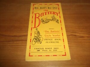 Brochure The Battery Cycle Works Prince Rock Plymouth Bicycle c1930's Cycling