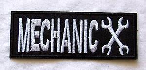 Aufnaeher-Mechanic-Schraubenschluessel-schwarz-Zange-Patch-Ratsche-Wrench